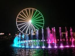christmas light show pigeon forge tn the island the wheel fountain light show picture of the island