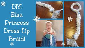 elsa halloween costume girls diy elsa frozen princess dress up braid youtube