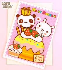 buy kawaii panda u0026 bunny cupcake 3d birthday card at tofu cute