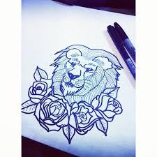 lion tattoo design by temmy111 on deviantart