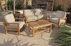 Modern Wicker Patio Furniture by Teak Wood Patio Furniture Set
