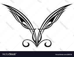wings tattoo design elements royalty free vector image