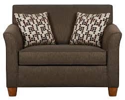 Patterned Sofa Bed Dark Brown Fabricwith Blackrest And Armrest Having Patterned
