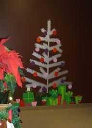 tinsel christmas tree christmas tree wall decal sticker