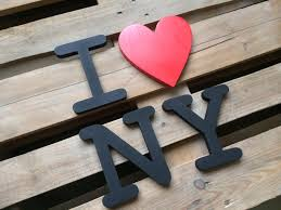 letters home decor city name i love new york wooden letters home decor wall