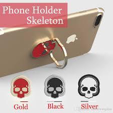 silver skeleton ring holder images Mobile phone holder figer phone ring magnet bracket 360 degrees jpg