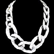 link necklace silver images Silver large link necklace bijoux treasures by ingabijoux png