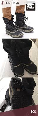 s sorel caribou boots size 9 sorel size 9 black mens 1964 pac boot pac boots
