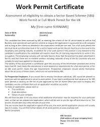 13 free sample work permit certificate templates u2013 printable samples