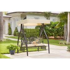 Swings For Patios With Canopy Patio Swings Patio Chairs The Home Depot
