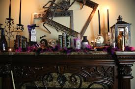 hair raising halloween mantel decorating ideas twin star home