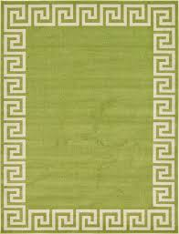 Green Modern Rug Modern Design Border Area Rug Contemporary Large Soft Carpet