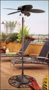 outdoor patio ceiling fans hunter outdoor stand up oasis patio ceiling fan with table and