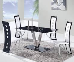 Black Glass Dining Table And Chairs Global D551dt Black Glass Dining Table W Stainless Steel Legs