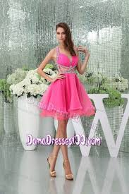 quince dama dresses back hot pink mini quince dama dress with cut out waist