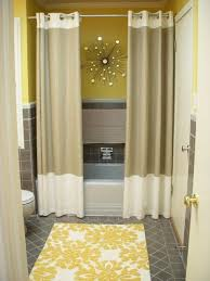 bathroom curtain ideas bathroom installing curtain ideas for prettier shower window small