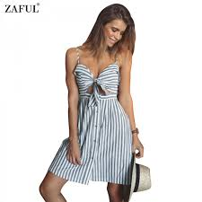 women summer dresses cotton and linen backless strapless spaghetti