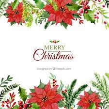 hand painted floral christmas background vector premium download