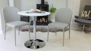 round white gloss 2 seater dining set round pedestal base