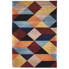 Modern Floor Rug New Modern Floor Rug Wool Soft Luxury Geo Shapes Dazzling Patterns