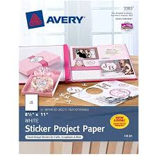 Does Office Depot Make Business Cards Avery Sticker Project Paper 03383 8 12 X 11 White Pack Of 15 By