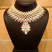 new necklace design images New gold bridal necklace design from naj south india jewels jpg