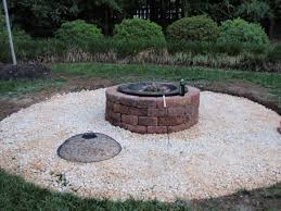 astrofire fire pit paver patio with firepit and all around