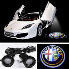 alfa romeo logo alfa romeo door step projector welcome led light laser lamp 3d