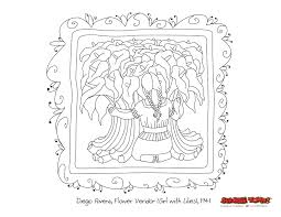 nice looking diego rivera coloring pages diego rivera viva mexico