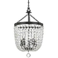 Bronze Chandelier With Crystals Oval Crystal Chandelier Bellacor