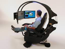chair awesome emperor gaming chair with sophisticated 3 monitor led