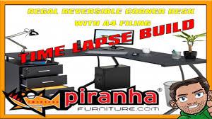 Piranha Corner Computer Desk Piranha Regal Corner Computer Corner Desk A4 Filing Drawers Home