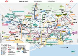 the metro map the way to get from barcelona airport to barcelona