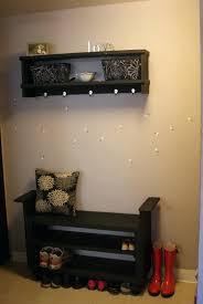 Ideas For Entryway by Contemporary Black Entryway Shoe Storage Bench Ideas Diy With