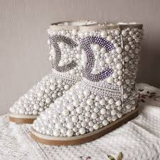 s boots with bling chanel pearls fur boots chanel pearls 138 00 bestsunkids