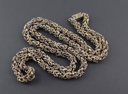 silver byzantine chain necklace images 140 4g solid silver vintage rope link byzantine chain 32 3 jpg
