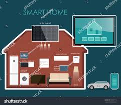 House Technology by House Design Style Modern Concept Smart Stock Vector 338061116