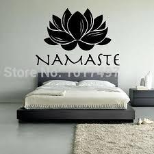 Lotus Flower Wall Decal Om by Aliexpress Com Buy Free Shipping Lotus Namaste Vinyl Wall Decal
