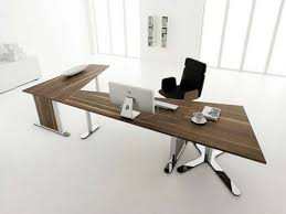 Modern Office Table Designs With Glass Office Desk Modern Wood Office Desk Commendable Glass Desk