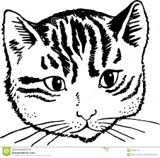 face clipart black and white