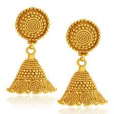 jhumki earring shop online sukkhi sleek gold plated jhumki earring for women 502269