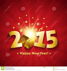 new year s day cards happy new year 2015 open magic gift greeting card stock image