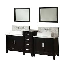 Dual Vanity Sink Direct Vanity Sink Horizon Premium 84 In Double Vanity In Ebony