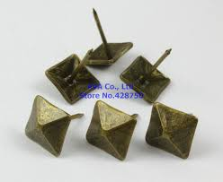Where To Buy Upholstery Tacks Aliexpress Com Buy 50 Pieces 14x20mm Antique Brass Square