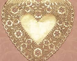 heart doily paper heart doilies etsy