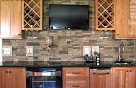 kitchen wall backsplash beyond mere paint 7 great kitchen wall ideas rock backsplash