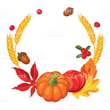 thanksgiving day or autumn frame decorative element with