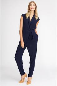 overall jumpsuit overall to wrap around the waist in blue kala
