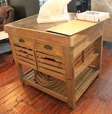 Rustic Pine Desk Belaney Rustic Lodge Honey Pine Wood Blue Stone 37 Inch Kitchen