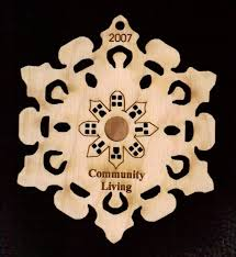 snowflakes from vermont customized wooden ornaments or